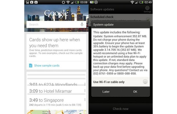 HTC One X Jelly Bean OTA Update