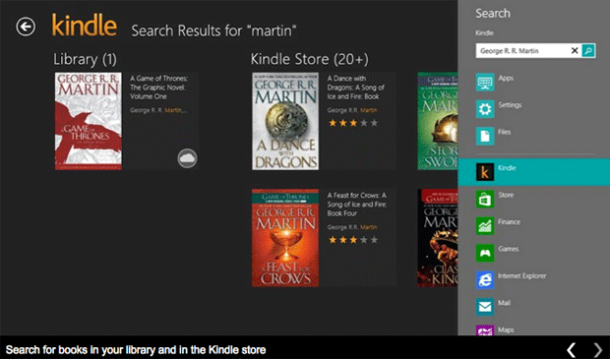 Kindle Windows 8 App