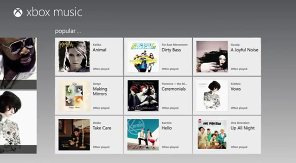 Xbox Music Screen
