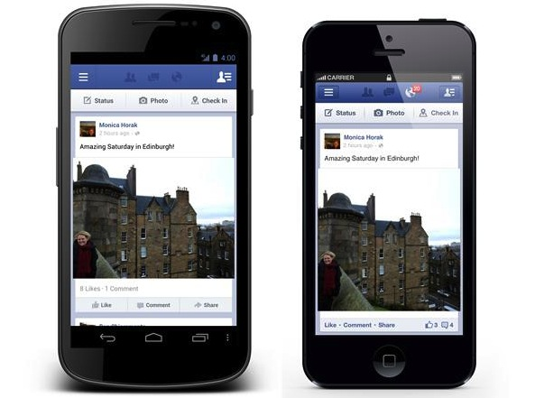Facebook App Android and iOS
