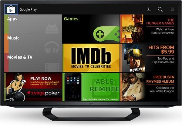 Google TV Google Play Screen