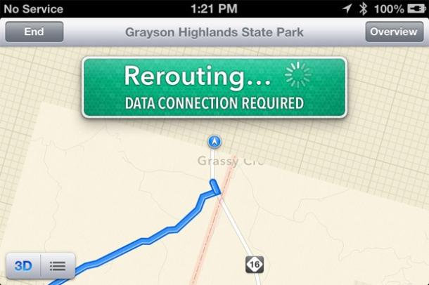 iOS 6 Maps Bugs