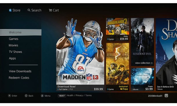 Redesigned PlayStation Store