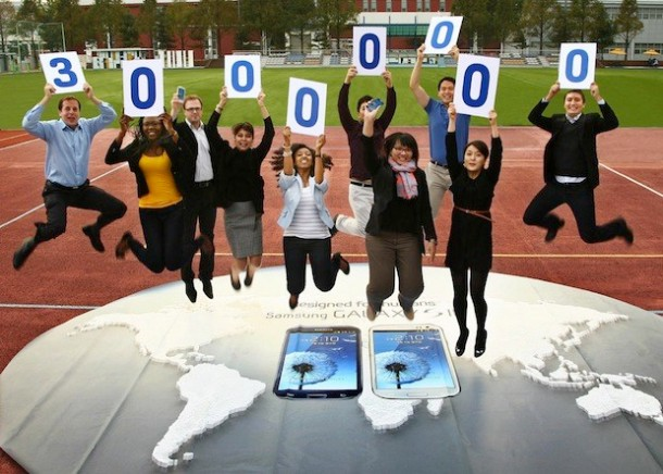 Samsung Galaxy SIII 30 million milestone