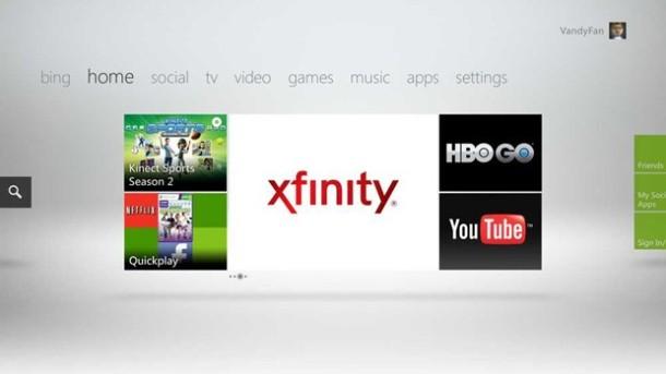 Xbox TV Xfinity