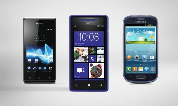 Xperia J Windows Phone 8X and Galaxy SIII Mini