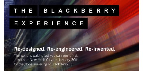 BlackBerry 10 Launch Event Invitation