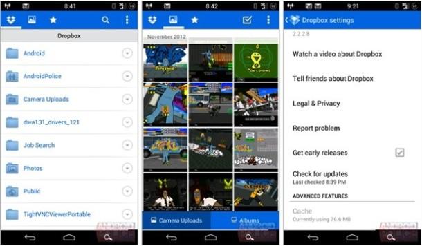 Dropbox Android Beta Photos