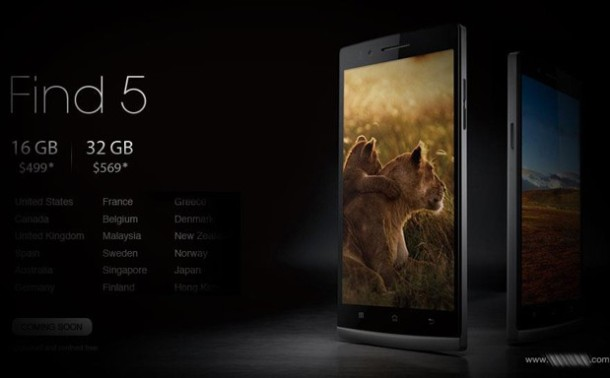 Oppo Find 5 Global