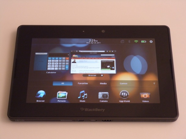 Blackberry Playbook Hands on