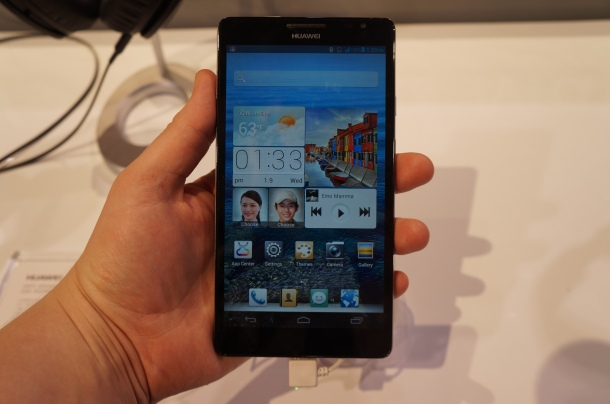 Huawei Ascend Mate Hands on CES 2013