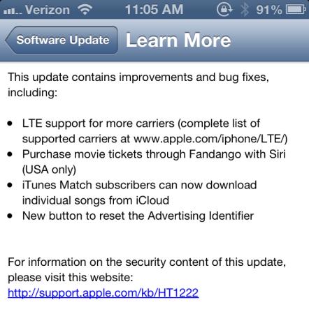 iOS 6.1 OTA Update