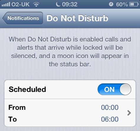 iOS Do Not Disturb bug