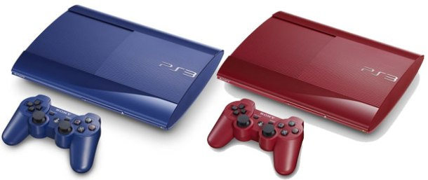 Red and blue PlayStation 3