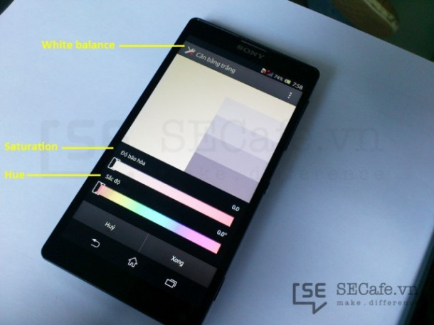 Sony Xperia Z and ZL display calibration software