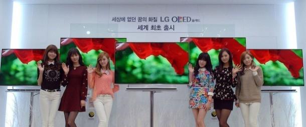LG OLED HDTV on display
