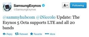 Samsung Exynos Octa with LTE, destined for Korean market