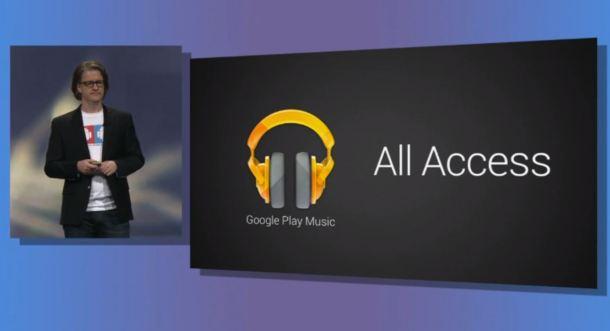 Google IO 2013 Google Play Music All Access
